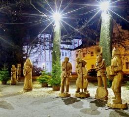 Krkonošský pohádkový betlém v zámeckém parku