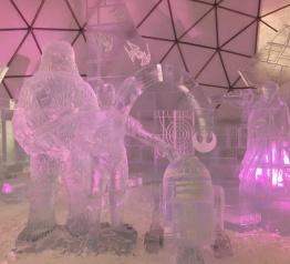 Ledové sochy veŠpindlerovském Ledáriu