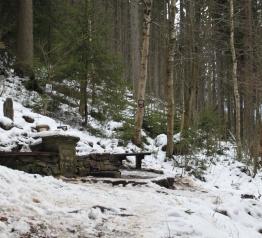 Dokončení rekonstrukce studánky na Staré hoře v Temném Dole