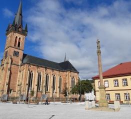 Nové náměstí Míru ve Vrchlabí
