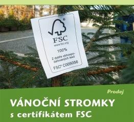 Vánoční stromky s certifikátem FSC