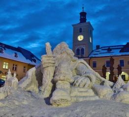 Jilemnici už opět hlídá sněhový Krakonoš
